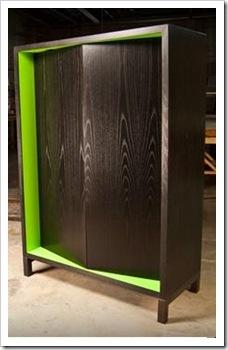armario com verde
