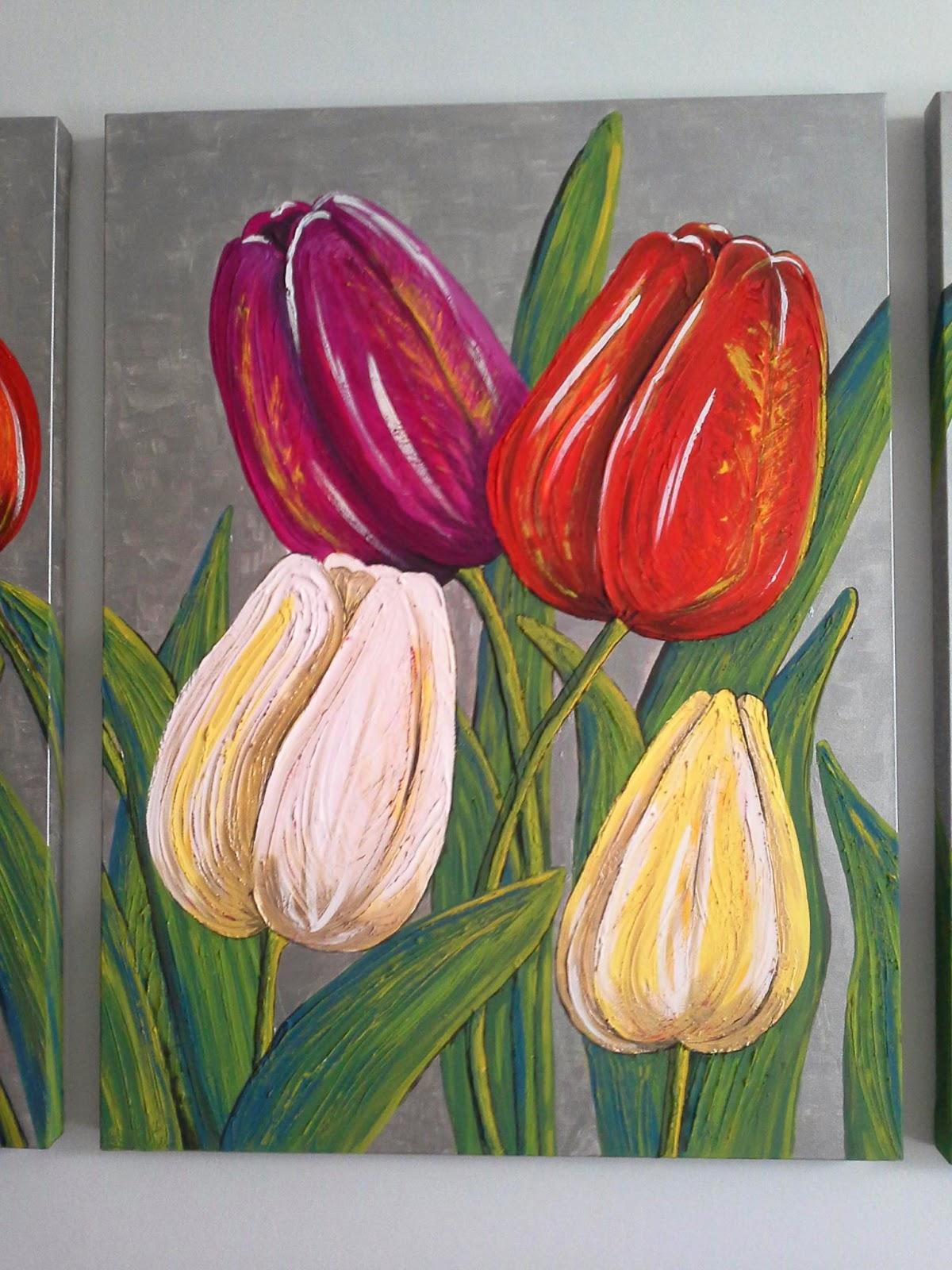 Tulipani nei miei quadri: paint my life | Peace and Love