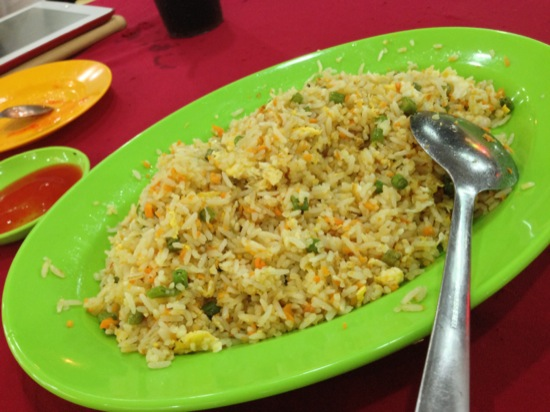 The fried rice