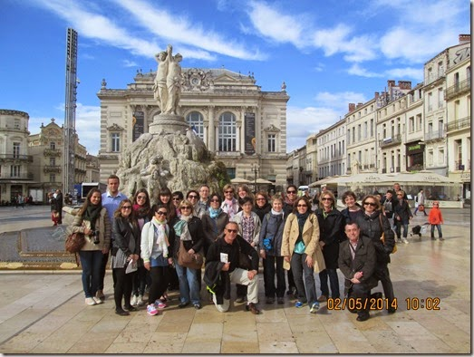 Photo de groupe visite Montpellier (1)