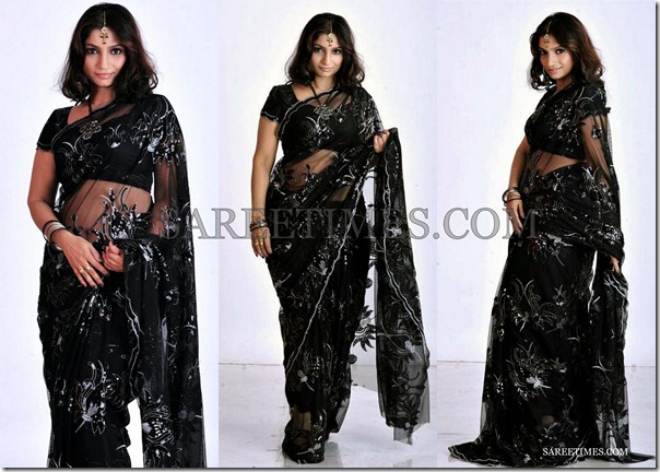 Sri_Lekha_Black_Saree