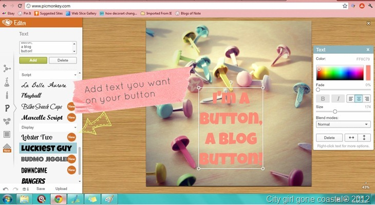 how to make photo buttons