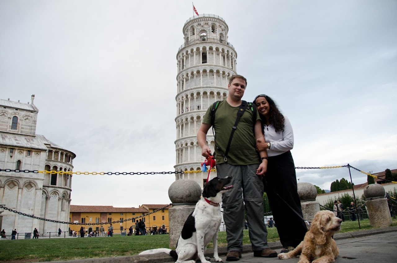 All of us at the Leaning Tower of Pisa