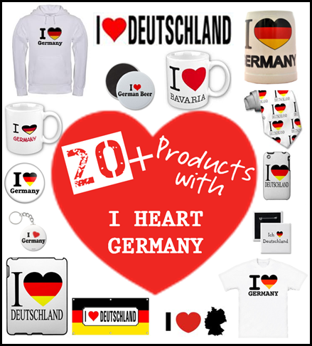 20+ products with I heart Germany
