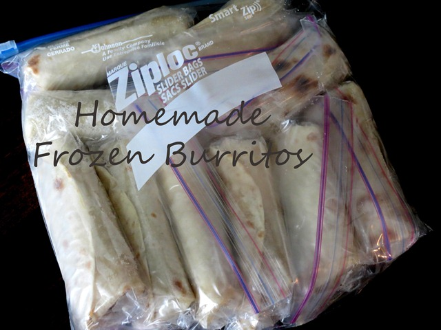 homemade frozen burritos 2