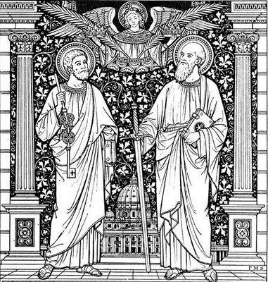 Tu es Petus, et super hanc petram aedificabo Ecclesiam meam.
