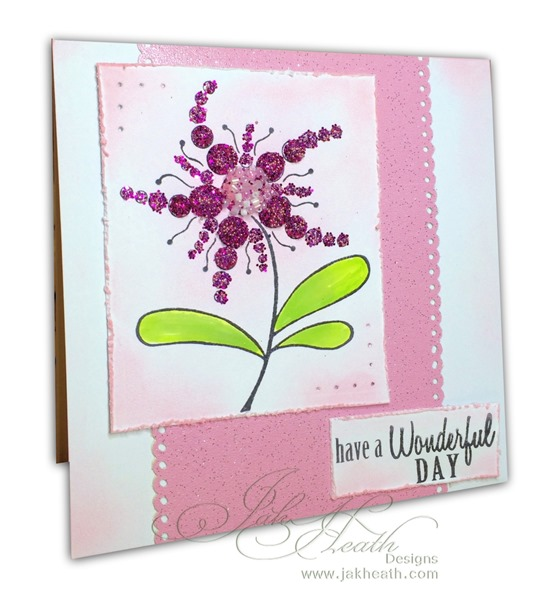 Stix2 and Woodware Bubble Bloom card