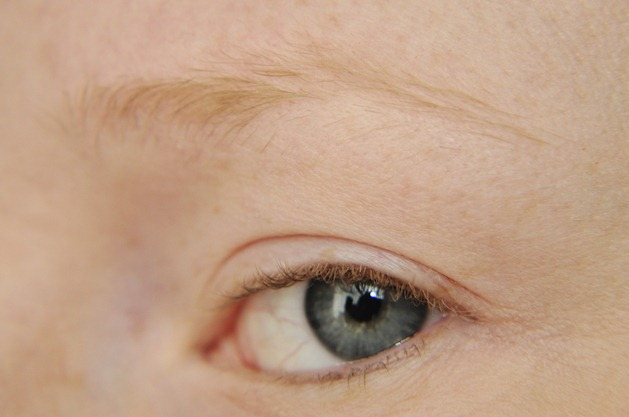 how to fill in sparse blonde eyebrows