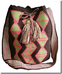 Wayuu Taya Bag Chocolate and Pink