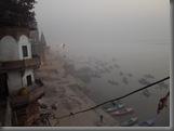 Varanasi Ghats am Morgen