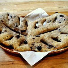 Rosemary and Black Olive Fougasse