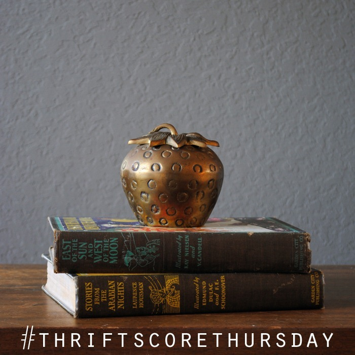 thriftscorethursday brass strawberry