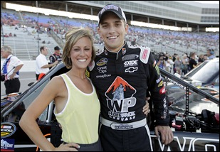 during the NASCAR Camping World Truck Series WinStar World Casino 400k at Texas Motor Speedway in Fort Worth, Texas on June 10, 2011.