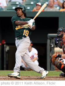 'Oakland Athletics Jemile Weeks' photo (c) 2011, Keith Allison - license: http://creativecommons.org/licenses/by-sa/2.0/