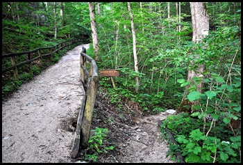 03 - Original Trail left, Battleship Rock Trail right
