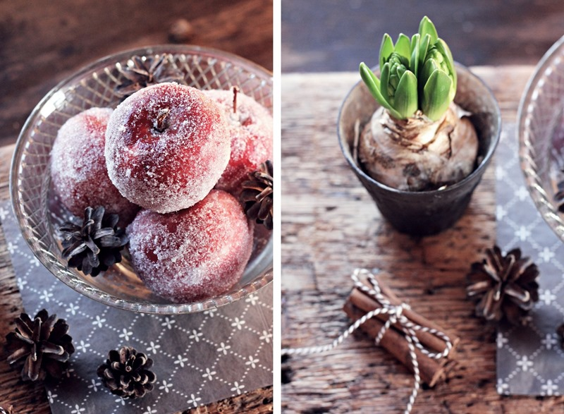 hyacint och äpplen
