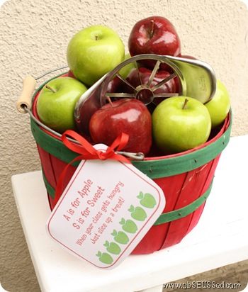 apple basket snack gift obseussed B