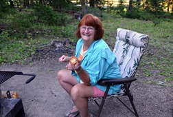 campfire at Falls Campground the perfect marshmallow