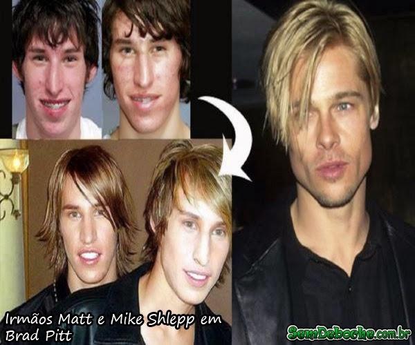 Irmãos Matt e Mike Shlepp em Brad Pitt