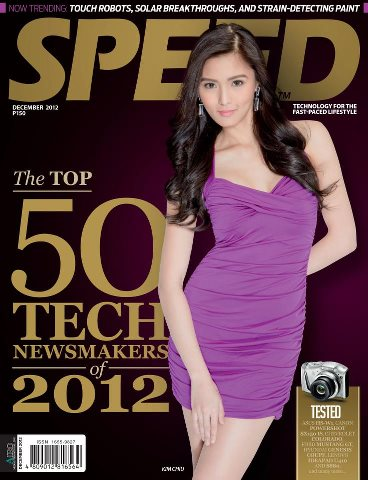 Kim Chiu on the cover of Speed Dec 2012