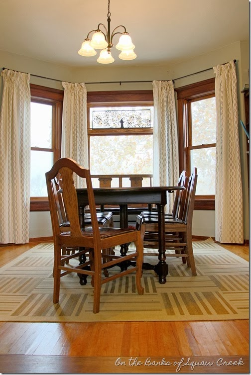 stained trim dining room