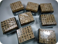 Alphabet Mini Stamps