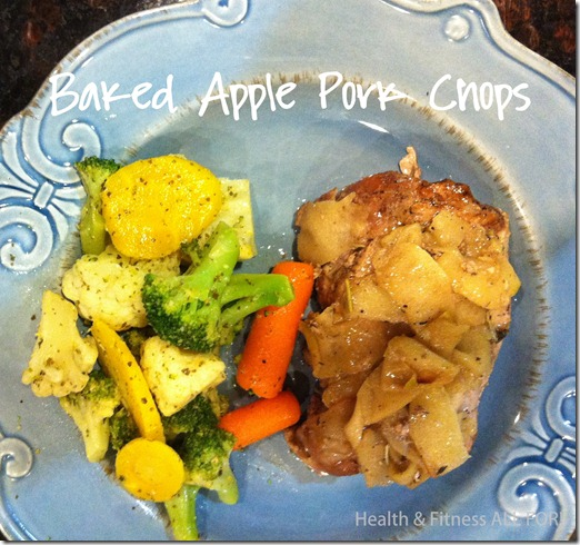 baked apple pork chops