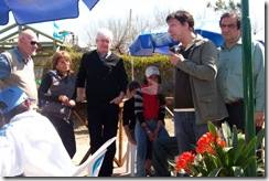 Ricardo Daubagna y Rodrigo Torre estuvieron presentes en la inauguración