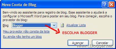 Como postar pelo Word 2010