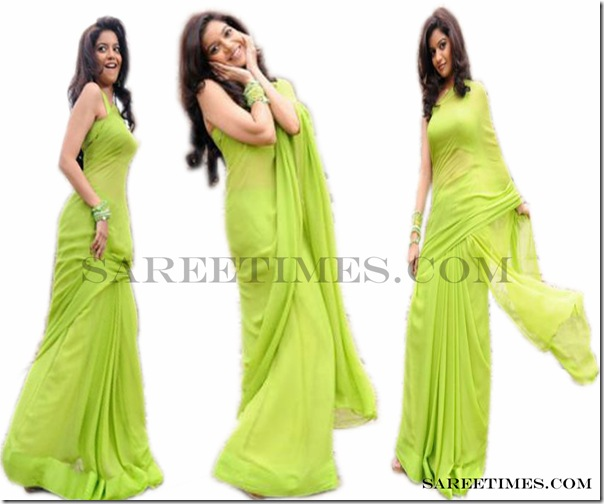 Swathi_Green_Plain_Saree