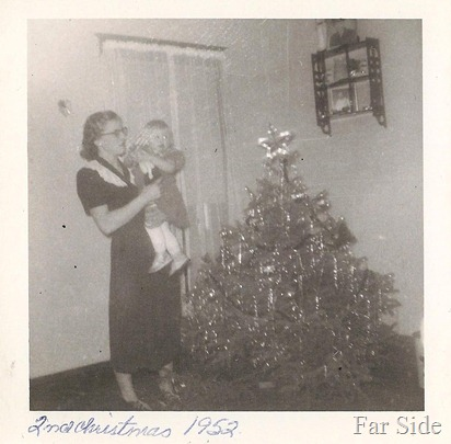 Christmas 1952 Mom and me