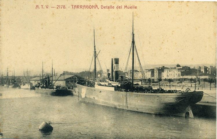 Vapor JOSE ROCA en el puerto de Tarragona. Postal.jpg