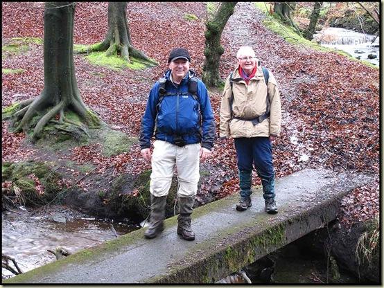 Allan and Reg in Roddlesworth Woods