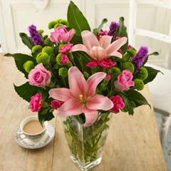 Sendabunch - Guernsey Flowers - Delicious in Pink Bouquet with Free Delivery