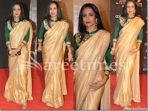 Suchitra_Pillai_Plain_Saree