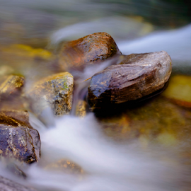 Stones fighting with the River by Vladimir Tufekchiev - Nature Up Close Rock & Stone ( water, stones, river )