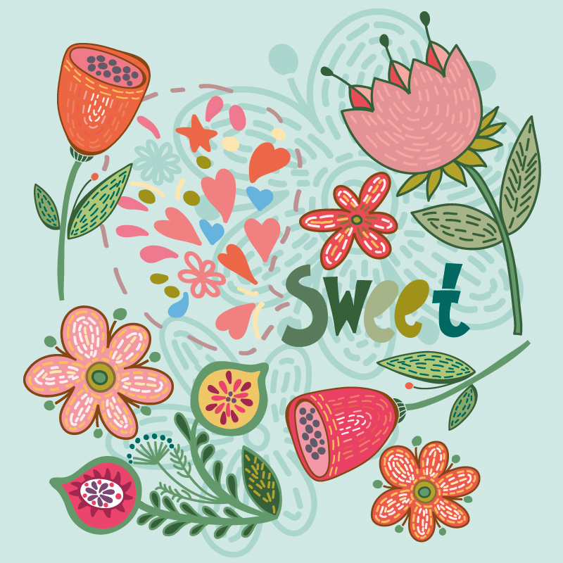 Flower sweet illustration
