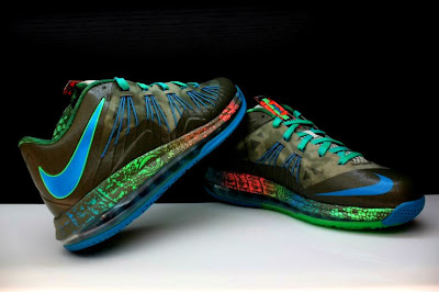 nike lebron 10 low gr black turquoise blue 2 08 Additional Look at Nike LeBron X Low Tarp Green