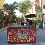 espanola way entrance in Miami, Florida, United States