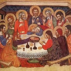 Jaime Serra (1370-1400): La última cena. Temple sobre tabla. Museo Nacional de Palermo. Gótico