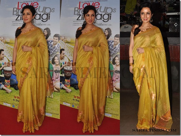 Tisca_Chopra_Gold_Designer_Saree