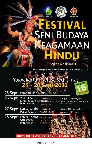jadwal acara festival keagamaan hindu tngkat nasional di yogyakarta 2012