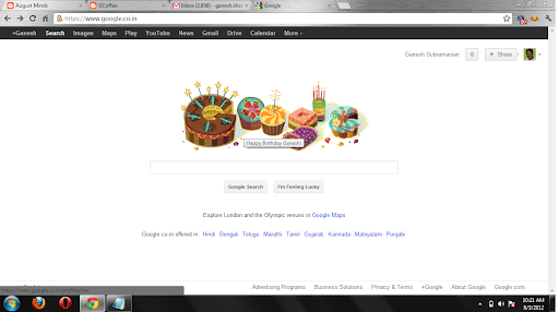 Google Wishes on Birthday