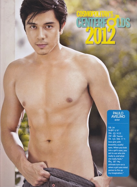 Paulo Avelino for Cosmo Centerfolds 2012