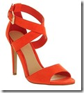 Office Orange Strappy Heel Shoes