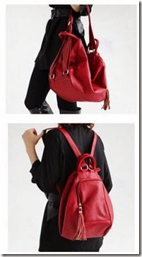 ID 8133 SELENDANG   RANSEL (179.000) - PU Leather, 32 x 30 x 16