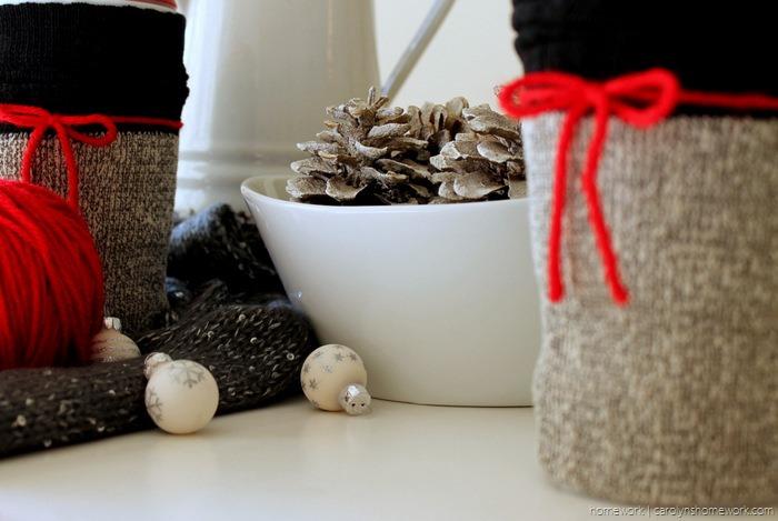 Dollar Store Coffee Cup Sock Cozy - carolynshomework (13)