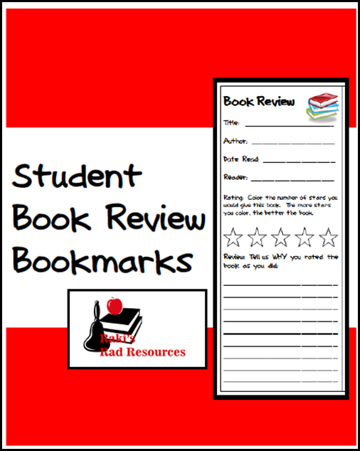 Resources to keep students reading books they enjoy while keeping them accountable for their learning.  Resources from Raki's Rad Resources - book review bookmarks