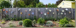 plate-flower fence