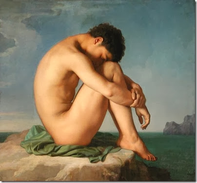 Jean Hippolyte Flandrin - Young Man Sitting by the Seashore